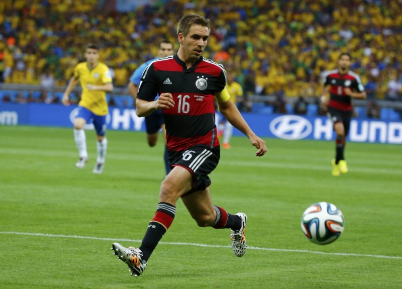 Philipp Lahm in Brazil 1-7 Germany, in the FIFA Word Cup 2014
