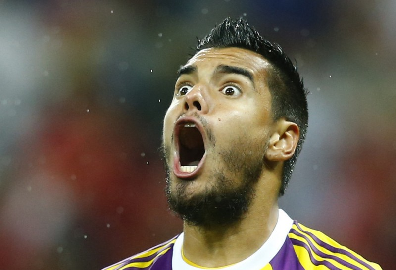 Sergio Romero crazy face in Argentina, at the 2014 FIFA World Cup