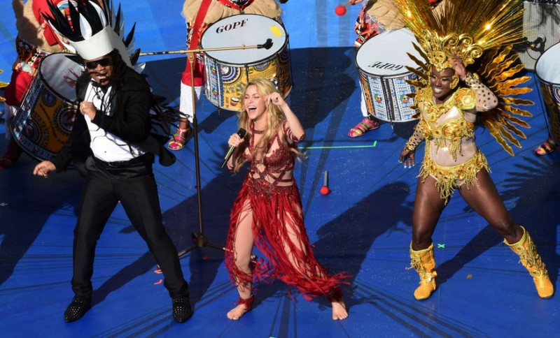Shakira's stage performance in the FIFA World Cup 2014 final