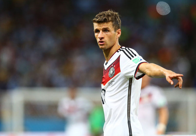 Thomas Muller, in Germany's FIFA World Cup final