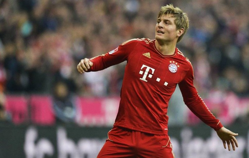 Toni Kroos, Bayern Munich goal celebration
