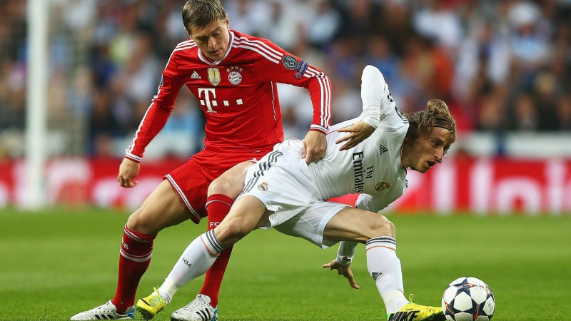 Toni Kroos vs Luka Modric, in Bayern Munich vs Real Madrid
