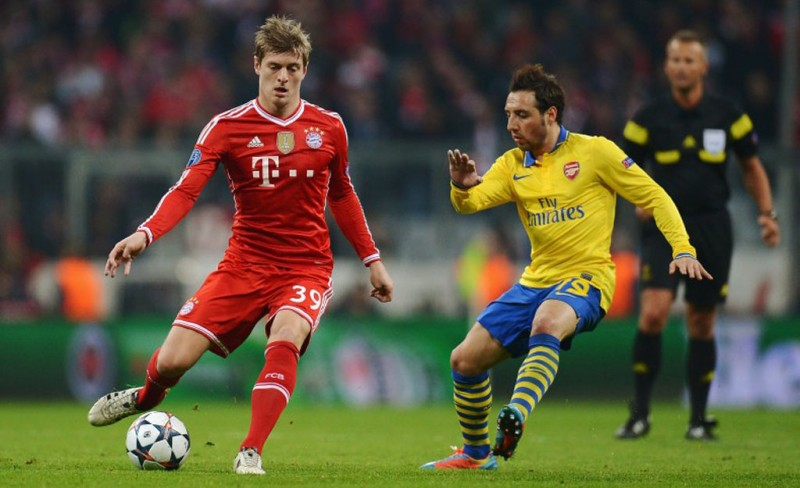 Toni Kroos vs Santi Cazorla, in Bayern Munich vs Arsenal