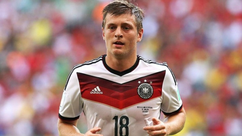 Tony Kroos in Germany's FIFA World Cup 2014