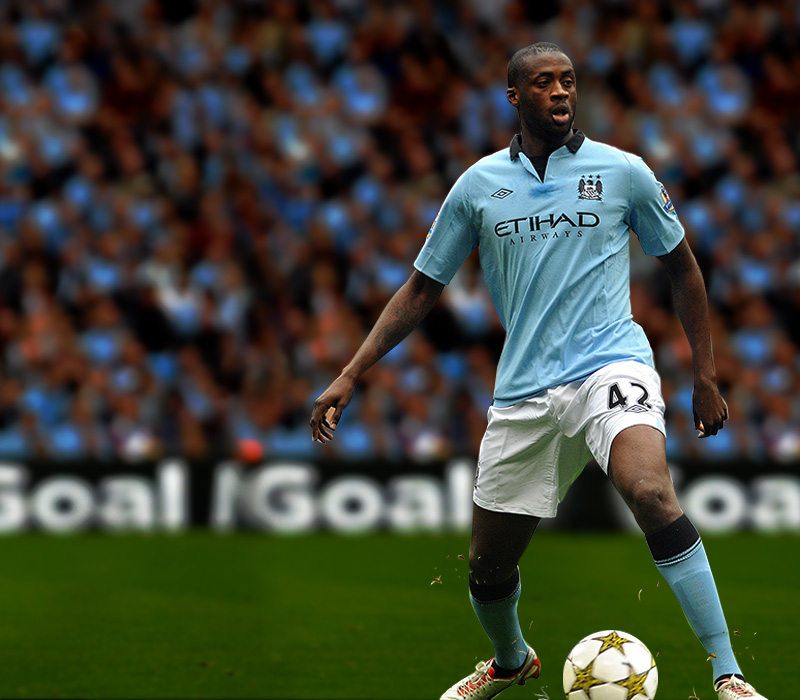 Yaya Toure dominating