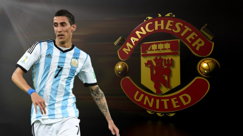 Angel Di María in a Manchester United wallpaper