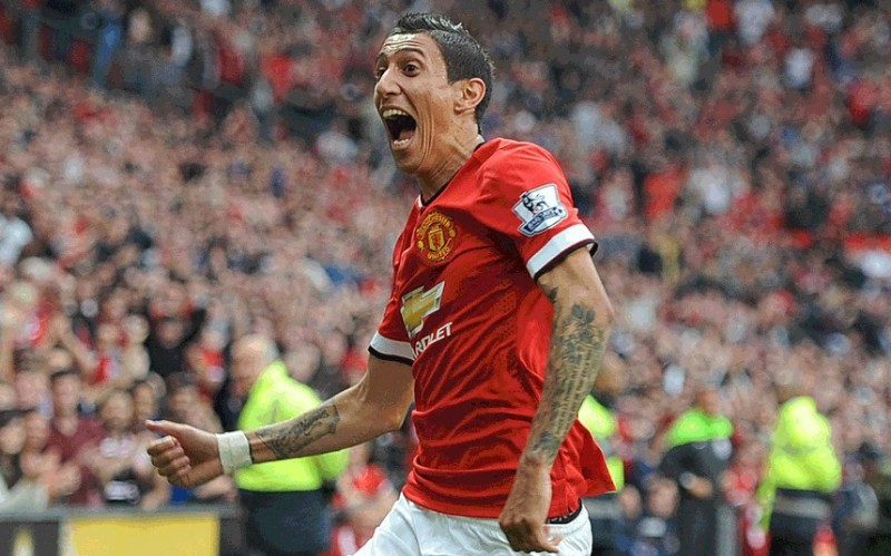 Angel Di María in a Manchester United shirt 2014-2015