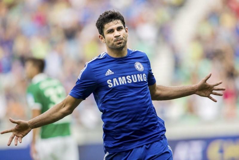 Diego Costa in a Chelsea shirt 2014-2015