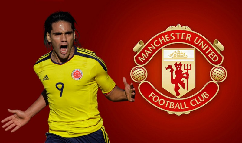 Falcao in a Manchester United wallpaper for 2014-2015