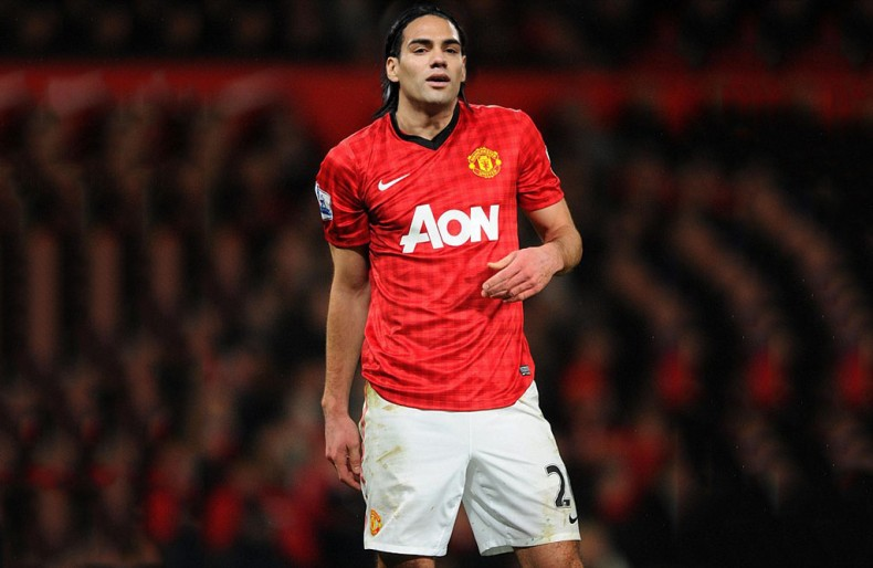 Falcao wearing Manchester United jersey 2014-15