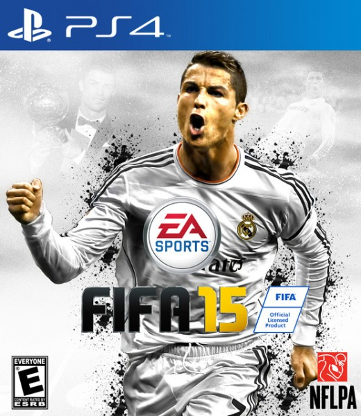 FIFA 15 PS4 box cover with Cristiano Ronaldo