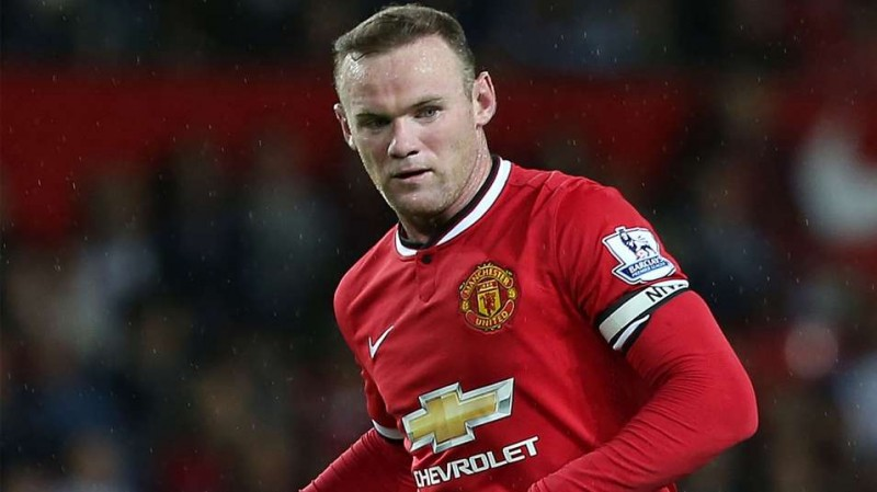 Wayne Rooney in a Manchester United jersey 2014-2015