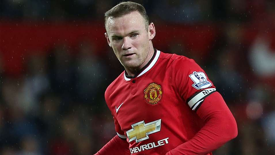 Wayne Rooney Manchester United 2014 Wayne Rooney in a Manchester United jersey