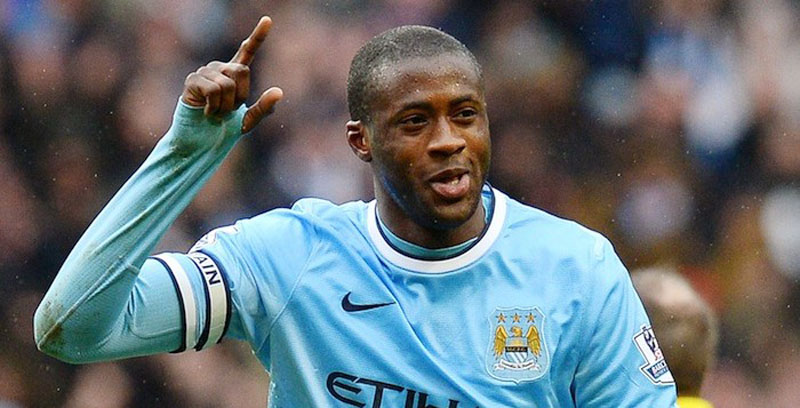 Yaya Touré in a Manchester City jersey 2014-2015