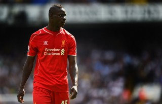 Mario Balotelli playing for Liverpool