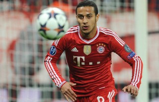Thiago Alcantara playing for Bayern Munich
