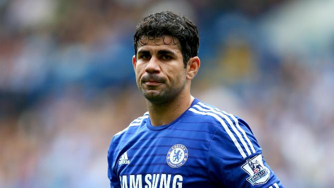 Diego Costa in a Chelsea jersey 2014-15