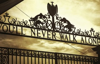 Liverpool front gate, you will never walk alone
