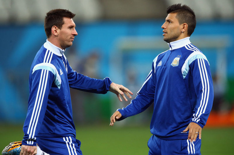 Messi and Aguero best friends