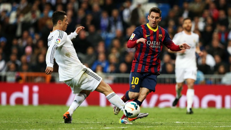 Cristiano Ronaldo vs Lionel Messi, in Barcelona vs Real Madrid