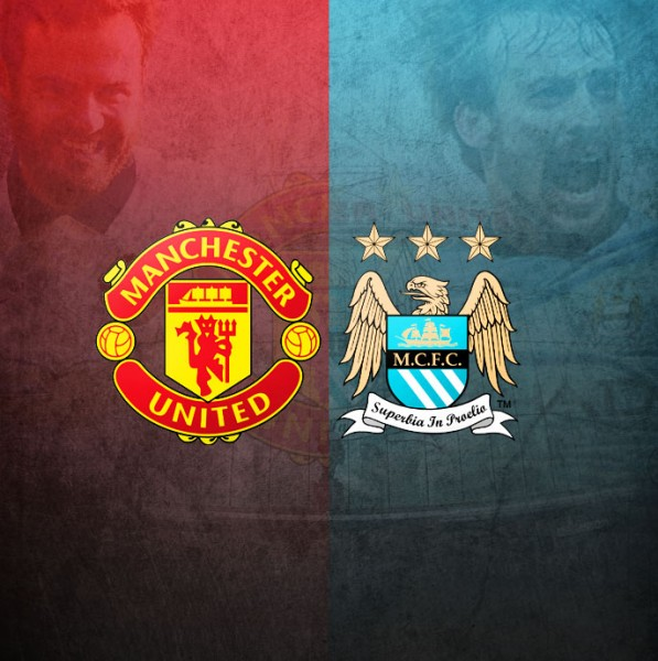 Manchester United vs Manchester City banner
