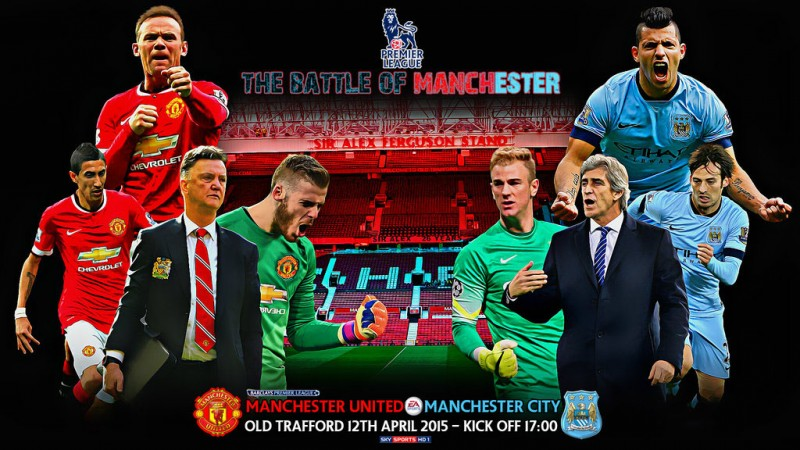 Manchester United vs Manchester City wallpaper 2015