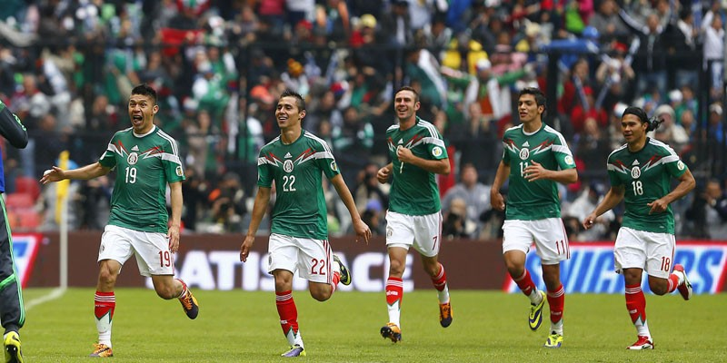 Mexico players celebrations after the game against New Zealand