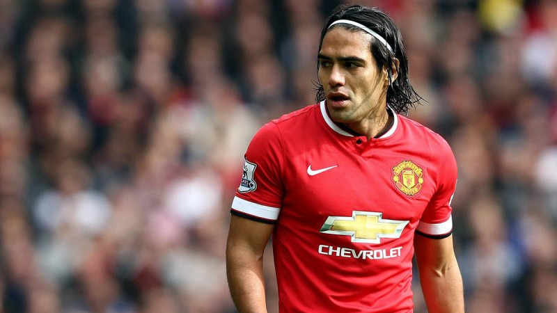 Radamel Falcao in Manchester United in 2014-2015