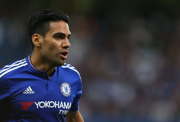 Falcao playing for Chelsea in 2015-16