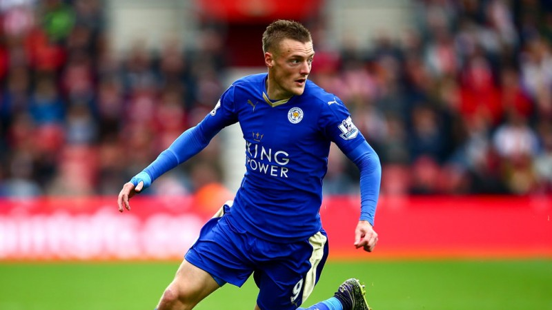 Jamie Vardy in Leicester City 2015-16