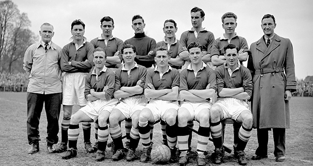 Chelsea squad, champions in England in 1955