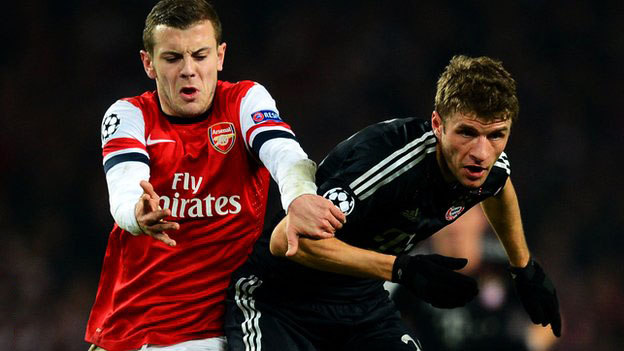Ramsey vs Muller in a tie between Arsenal and Bayern Munich