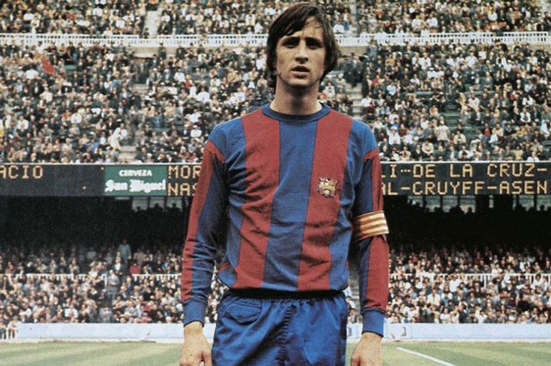 Johan Cruyff as Barcelona captain