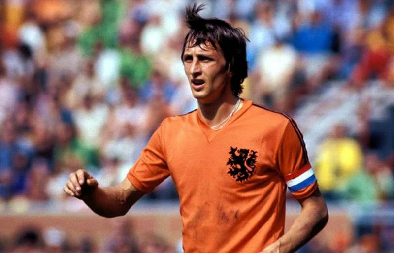 Johan Cruyff playing for the Netherlands