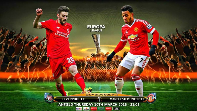 Liverpool vs Manchester United in the Europa League 2016 wallpaper