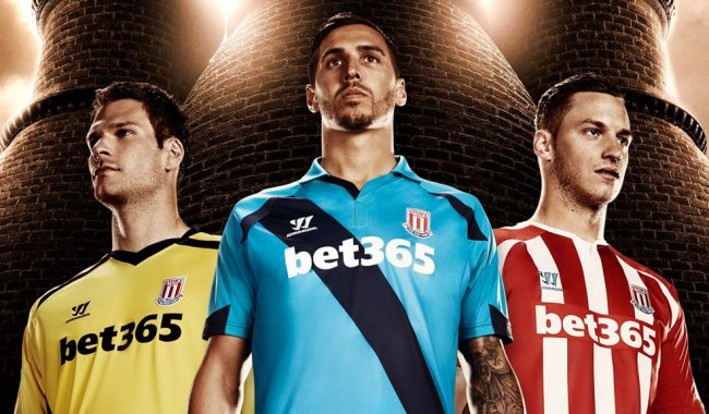 Bet365 shirt sponsorship with Stoke City