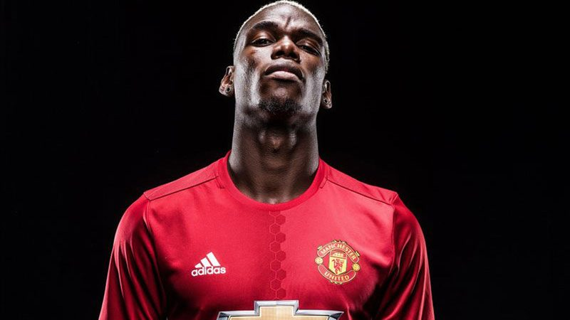 Paul Pogba arrogant look in Manchester United photoshoot