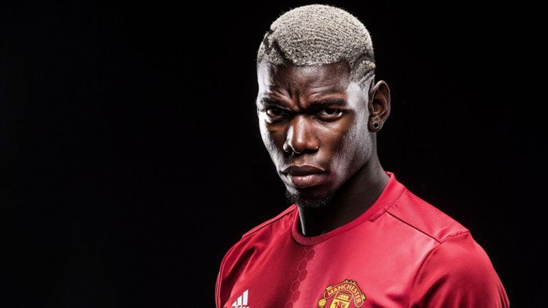 Paul Pogba photo after signing for Manchester United in 2016