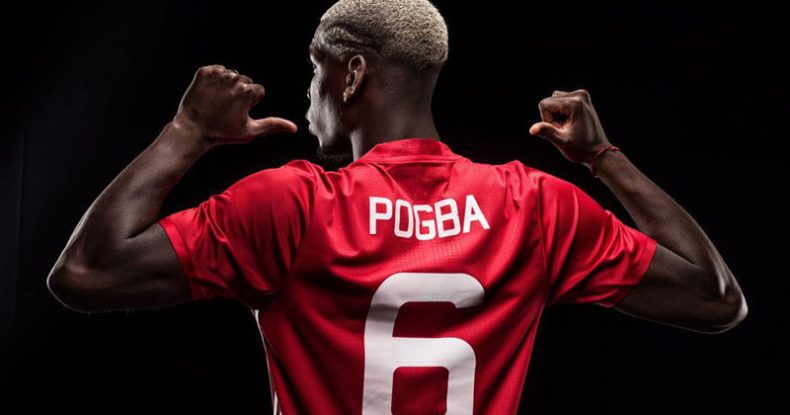 Pogba Manchester United jersey number 6