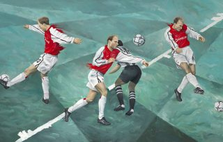 Dennis Bergkamp dream dribble and goal wallpaper in Newcastle vs Arsenal in 2002
