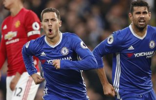 Éden Hazard and Diego Costa in Chelsea 4-0 Manchester United