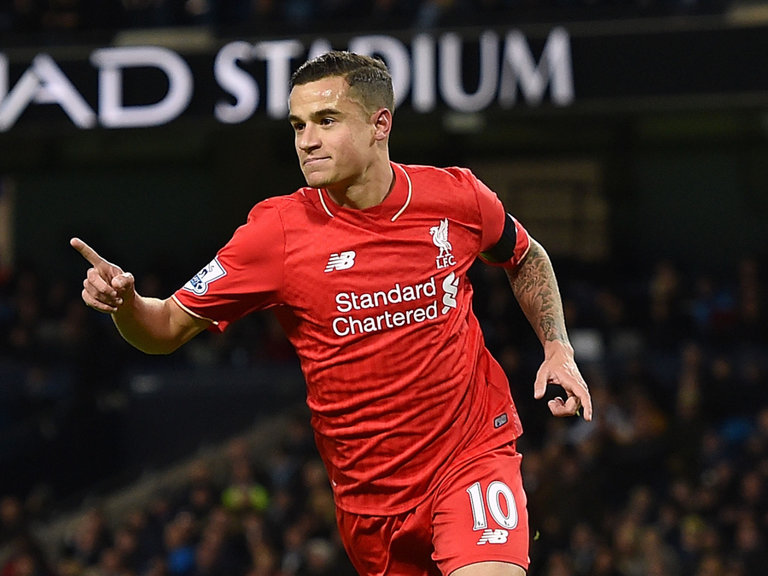 Coutinho in Liverpool in 2016