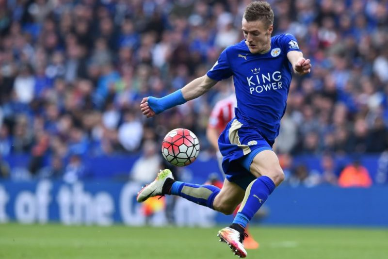 Jamie Vardy in Leicester in 2016