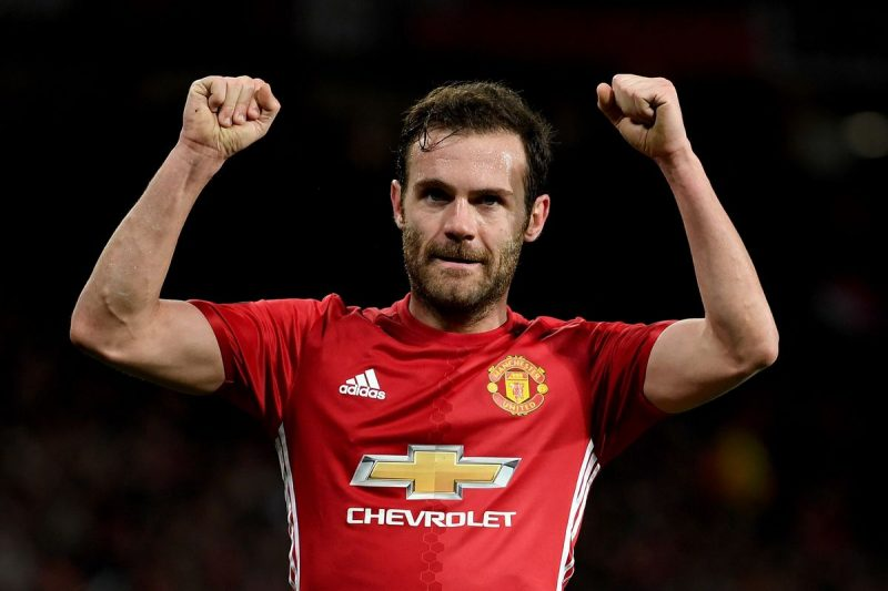Juan Mata in Manchester United in 2017