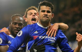 Diego Costa celebrates goal for Chelsea