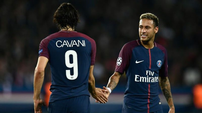 Cavani and Neymar in PSG