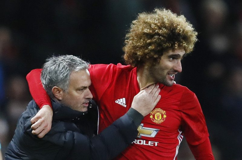 José Mourinho and Fellaini in Manchester United