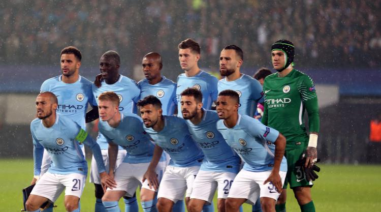 Manchester City starting eleven for 2017-2018
