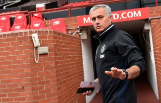 José Mourinho at Old Trafford