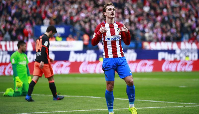 Antoine Griezmann in Atletico Madrid in 2018